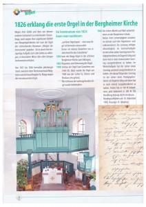 1826 erklang die erste Orgel